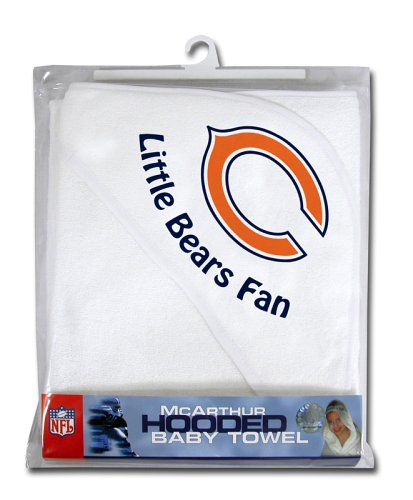 Nfl Chicago Bears White Hooded Baby Towel front-490964