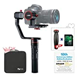 FeiyuTech a2000(10th Anniversary Edition) 3-Axis Gimbal for DSLR Camera, With 4G USB Drive, Compatible with NIKON/SONY/CANON Series Camera and lens,2 Kilogram Payload, Damping Sliding Arm