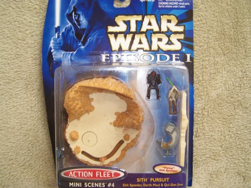Star Wars Episode I Action Fleet Mini Scenes #4 Sith Pursuit