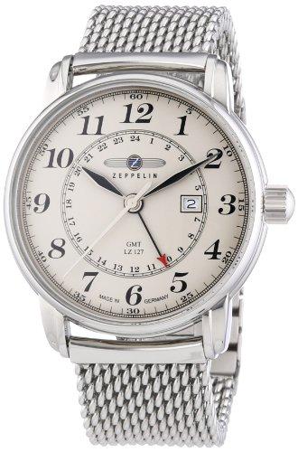 Zeppelin Men's Quartz Watch LZ127 Graf Zeppelin 7642M5 with Metal Strap