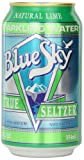 Blue Sky Lime Seltzer, 12 Ounce Cans (Pack of 24)