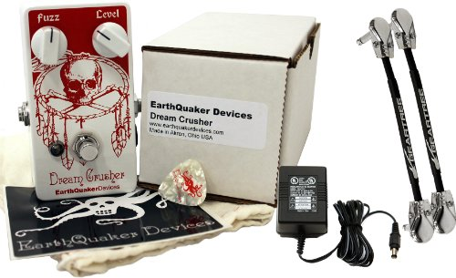 "Earthquaker Dream Crusher Fuzz W/ 9V Power Supply And 6"" Patch Cables"