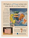 1961 Frigidaire Pink Custom Imperial Washer Dryer Print Ad (17172)