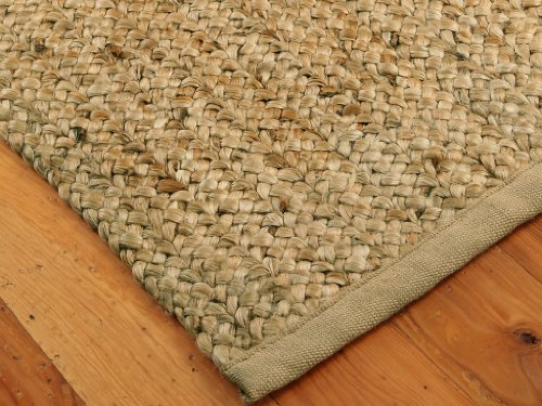 """Palace"" Jute Natural Fiber Rug (Braided Design) 4' x 6' - Hand Loomed, Reversible"