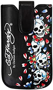 Ed Hardy APOPU02007 Original OEM Sleeve Case with Snap Tab - Retail Packaging - Black