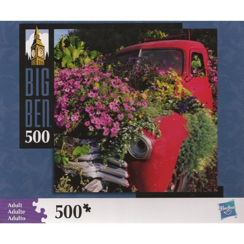 "Big Ben 500 Piece Truck & Flowers Jigsaw Puzzle (Assembled Size: 16"" x 16"") - 1"