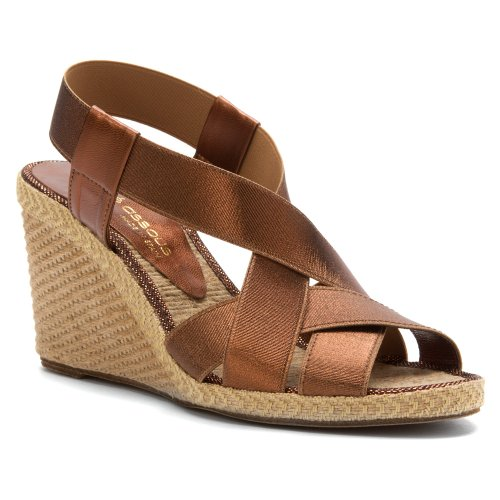 Bronze Wedge Sandals front-1021289