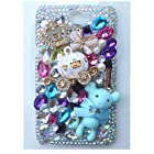 EVTECH(TM) 3D Handmade Rhinestone Lovely Bear Series Crystal Diamond Design Case Clear Cover for Samsung Galaxy Note II 2 N7100 I605 L900 I317 T889 T-mobile Version(100% Handcrafted)