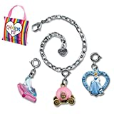 CHARM IT! Disney Cinderella, Carriage & Glass Slipper Charms & Bracelet Pouch Set