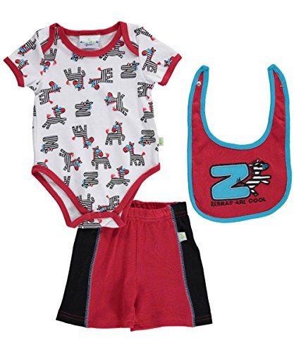 "Duck Duck Goose Baby Boys' ""Zebras are Cool"" 3-Piece Outfit"