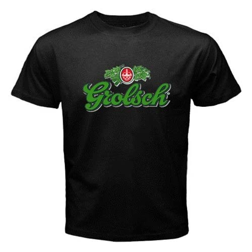 "Amazon.com: Grolsch Beer Logo New Black T-shirt Size ""L"