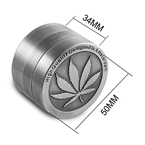 Formax420-Zinc-Alloy-Herb-Grinder-Cannabis-Leaf-Designed-on-Top-Part-50-mm-4-Pieces