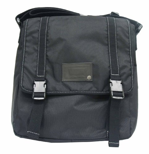 Levi's Mens Nylon North/South Messenger Bag, Black, One Size