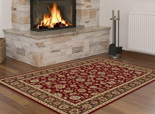 Universal Rugs Traditional Oriental 3 Piece Area Rug Set , Red