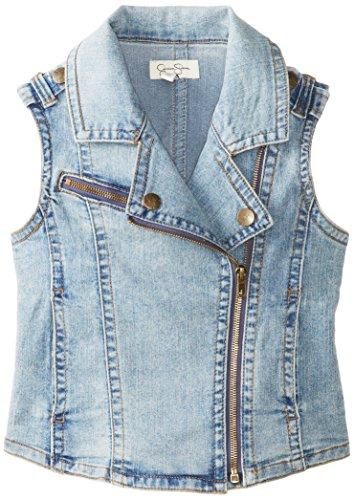 Jessica Simpson Big Girls' Roland Moto Vest, Bali/Astoria, Small