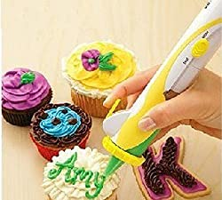 Worldoor® Battery Operated Frosting Deco Pen Magic Cupcake Cookie Cake Decoration Pastry Decorating Writing Set Kit Tool / Cake Decoration Cake Tool Battery Operated Frosting Deco Pen Cupcake Cake Decoration Decorating Pen Kit