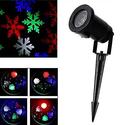 GESIMEI LED Projector Lamp Christmas Tree Decor Snowflake Flood Lights