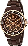 XOXO Women's XO5576 Brown Rubber Coated Bracelet Watch