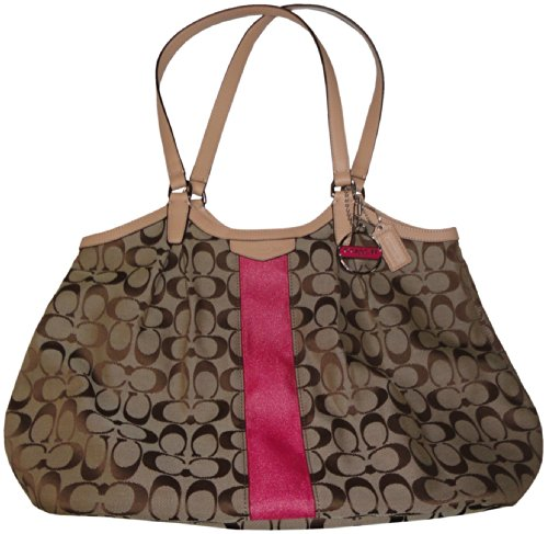 Coach   Coach Devin Signature Stripe Women's Tote Handbag Bag 28503