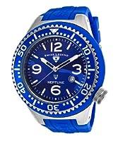 Swiss Legend Men's 11852C-03 Neptune Analog Display Swiss Quartz Blue Watch by Swiss Legend