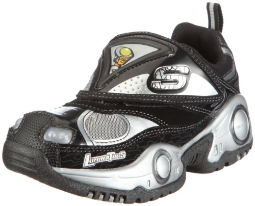 Skechers USA Youth Skecher Lights Black Lighted Boot 90320L 3 UK