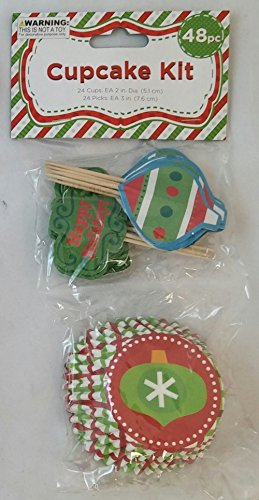 Christmas Ornament Cupcake Kit - 1