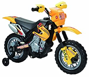 Happy Rider/Fun Wheels 6-volt Battery Operated Ride On Dirt Bike, Yellow