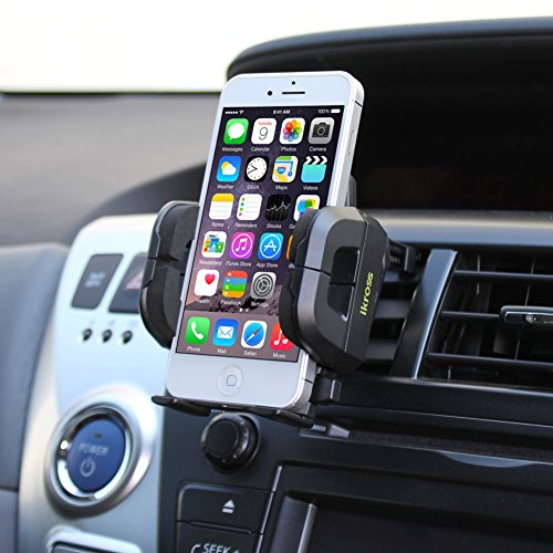 iKross Air Vent Car Vehicle Mount Holder for iPhone 6 / 6 Plus / 5 / 5S, Samsung Galaxy S5, Galaxy Note 4, Galaxy Alpha, LG G3 and Other Cell Phone, Mega Smartphone up to 6inch Screen