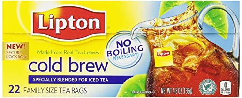 Lipton Cold Brew Tea, Pitcher Size, 22 Ct