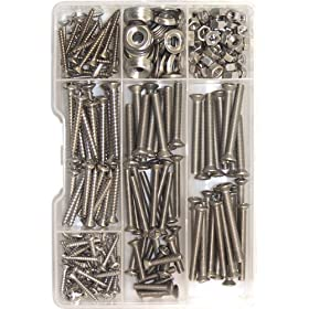Shoreline Marine Screw Kit Stainless Steel (168 pieces)