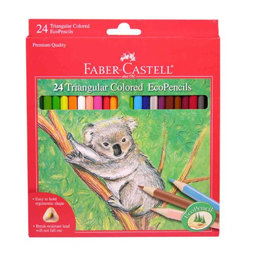 Faber-Castell 24ct Triangular Colored EcoPencils - 1