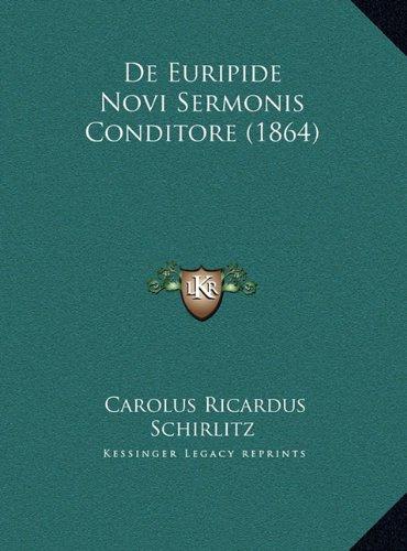 de Euripide Novi Sermonis Conditore (1864)