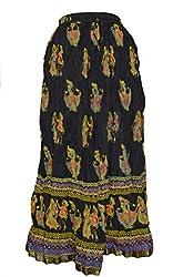 PMS Pure Cotton Multi Color Rajasthani Fashion Long Skirts & Zari Border Skirt