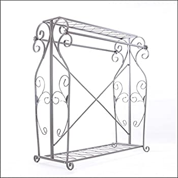 Decorative Grey Steel Iron Garment Coat Rack (Y009D)