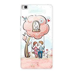Special Swing Love Multicolor Back Case Cover for Huawei P8