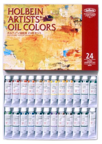 24-color-set-holbein-expert-for-oil-paint-japan-import