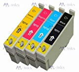 4x Compatible Epson Stylus SX515W Printer Ink Cartridges (Contains: 1x Black 1x Cyan 1x Magenta 1x Yellow)