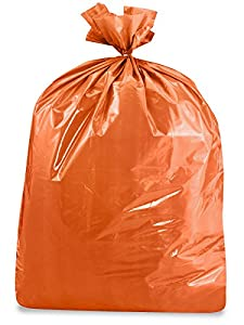 "44-55 Gallon 1.5 Mil Orange Trash Liners 36 x 58"" - 100/carton"