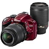 Nikon デジタル一眼レフカメラ D3200 200mmダブルズームキット 18-55mm/55-200mm付属 レッド D3200WZ200RD