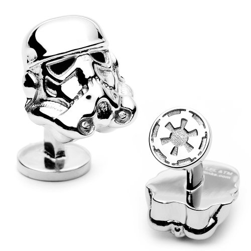 Officially licensed by Lucasfilm Star Wars 3-D Storm Trooper Head Cufflinks Cuff Links