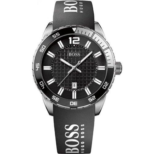 Hugo Boss 1512888 Watch HB6013 Mens - Black Dial Stainless Steel Case Quartz Movement