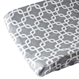 Caden Lane Changing Pad Cover, Gray Bright Baby