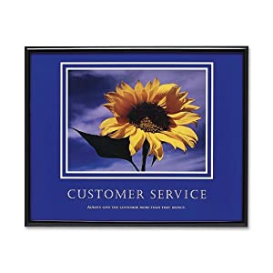 Advantus Framed Motivational Print, Customer Service, 30 x 24 Inches, Black Frame (AVT78027)