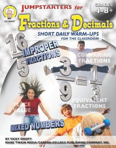 Jumpstarters for Fractions & Decimals, Grades 4 - 12
