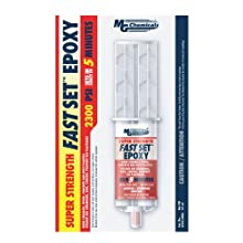 MG Chemicals 8332 Fast Set Epoxy Adhesive, Begins to Harden in 5 minutes, 25 ml Dual Syringe, Clear