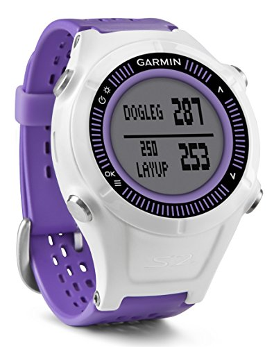 Garmin Approach S2 - Reloj con pulsómetro para golf, color blanco / violeta