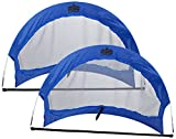 Crown Sporting Goods Pop Up Soccer Goals with 2 Carrying Bags (Set of 2)