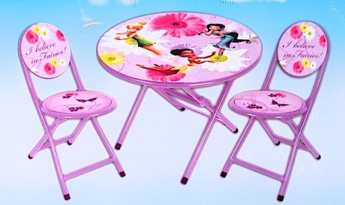 Sale Disney Fairies Tinkerbell 3 Piece Folding Table And