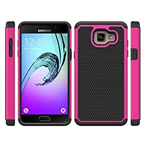 32nd® Shockproof Defender Case Cover for Samsung Galaxy A7 (2016), including touch stylus - Hot Pink