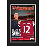 Arsenal Personalised Magazine Cover Photo Folder Football Fan Gift